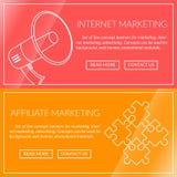 Banners voor Internet-Marketing Vector Illustratie
