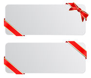 Banners w bow. Vector blank banners with bow Stock Image