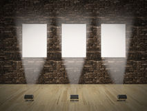 Banners on wall Royalty Free Stock Photos