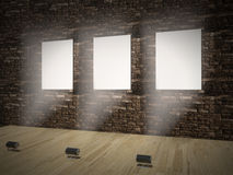 Banners on wall Royalty Free Stock Images