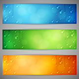 Banners with Water Drops Stock Photography
