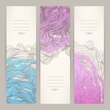 Banners with wavy patterns - 2 Stock Images
