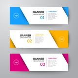 Banners web design template abstract  background Royalty Free Stock Photos