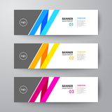Banners web design template abstract  background. Modern geometrics banners web design template abstract  background elements, Business presentation Royalty Free Stock Photography
