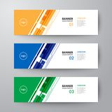 Banners web design template abstract  background. Modern geometrics banners web design template abstract  background elements, Business presentation Royalty Free Stock Photos