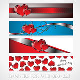 Banners for web. Love. (Vector collection9) Stock Photos