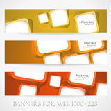 Banners for web. (Vector collection16) Royalty Free Stock Photos