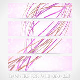 Banners for web. (Vector collection14) Stock Photography