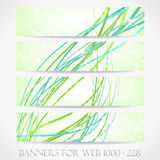 Banners for web. (Vector collection13) Royalty Free Stock Images