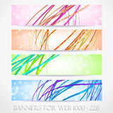 Banners for web. (Vector collection15) Royalty Free Stock Photography