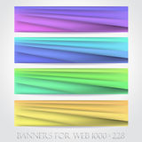 Banners for web. (Vector collection16) Stock Photo