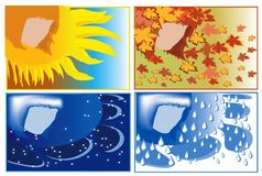 Banners:wether,seasons Stock Photos