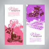 Banners of wine vintage background Stock Photo