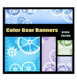Banners With Gears Royalty Free Stock Photo