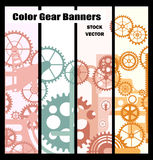 Banners With Gears Royalty Free Stock Photos