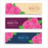 Banners for Women Day Stock Photo