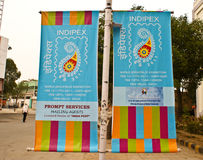 Banners of World Philatelic Exhibition 2011. Banners of  World Philatelic Exhibition called as INDIPEX 2011, organized at Pragati Maidan in New Delhi from 12th Royalty Free Stock Photos