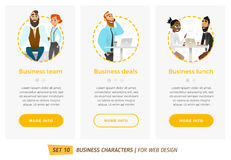 Banners for your web design in business style Royalty Free Stock Photos