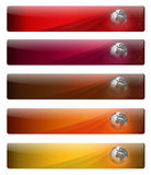 Banners for your web page logo Royalty Free Stock Photos