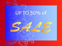 Up to 50% of sale stock illustration