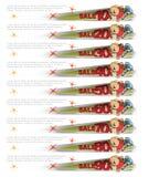 Bannerverkoop - een vrolijke mens krijgt uit de pagina Royalty-vrije Stock Afbeeldingen