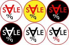 Bannerverkoop met het embleem-pictogram van de dalende prijzenverkoop Royalty-vrije Stock Fotografie