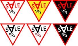 Bannerverkoop met het embleem-pictogram van de dalende prijzenverkoop Stock Foto