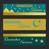 Bannes de Ramadan Kareem fotos de archivo libres de regalías