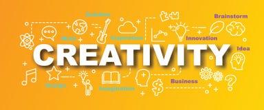 Bannière à la mode de vecteur de créativité illustration de vecteur