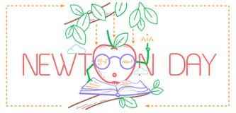 Bannière éducative Newton Day illustration de vecteur