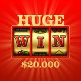 Bannière énorme de casino de victoire illustration de vecteur