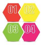 Bannière, étiquette ou label d'infographics de Web avec des options de nombre illustration stock