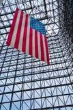 Bannière étoilée - musée de JFK Photo stock