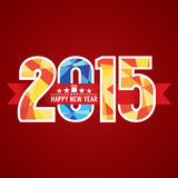 Bannière 2015 abstraite Image libre de droits