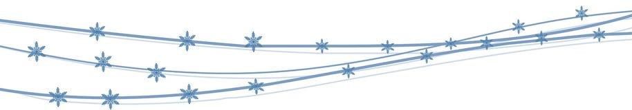 Bannière abstraite avec des flocons de neige Bannière d'hiver Illustration de vecteur photos libres de droits
