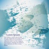 Bannière abstraite d'aquarelle de vecteur Fond vert et bleu Calibre de conception avec l'endroit pour votre texte peut être emplo illustration libre de droits