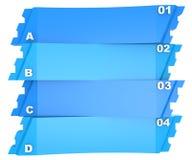 Bannière abstraite d'options de l'infographics 3D Images libres de droits