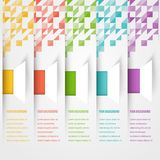 Bannière abstraite de calibre de triangle Ensemble de couleur Photos libres de droits