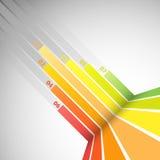 Bannière abstraite de conception avec les lignes colorées Image stock