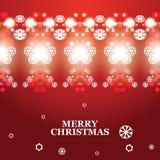 Bannière abstraite de Noël de vecteur Photos stock
