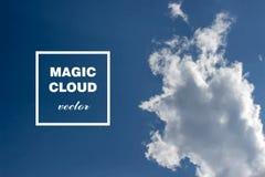 Bannière abstraite de nuage de vecteur Images stock