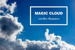 Bannière abstraite de nuage de vecteur illustration de vecteur