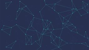 Bannière abstraite futuriste de vecteur de technologie de Blockchain illustration de vecteur