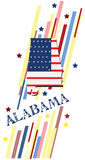 Bannière Alabama illustration stock