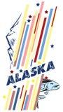 Bannière Alaska illustration libre de droits