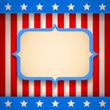 Bannière américaine Photo stock