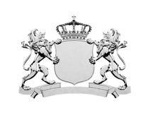 Bannière argentée de crête de lion illustration stock
