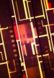 Bannière au néon de film de vintage Images libres de droits