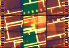 Bannière au néon de film de vintage Image libre de droits