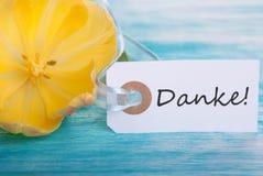 Bannière avec Danke Images stock